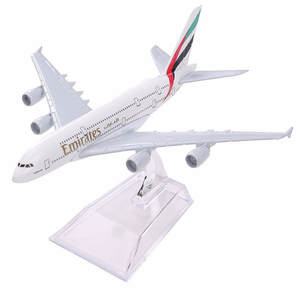 Airplane Model Aircraft Airlines Airways Air-Emirates-A380 Airbus 380 Alloy Metal W-Stand