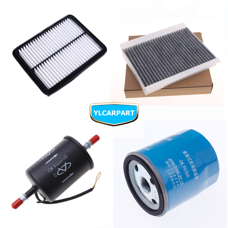 For Chery Tiggo 4,5,7,8,Tiggo4,Tiggo5,Tiggo7,Tiggo8,Car air/conditioning/fuel/lubricating oil filter kit(China)