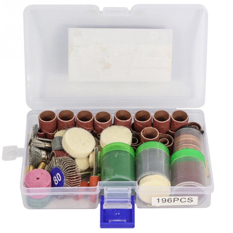 34pcs/set Or 60pcs/set Or 195pcs Electric Grinder Kit Engraving Grinding Polishing Accessories For Grinding Polishing Engraving