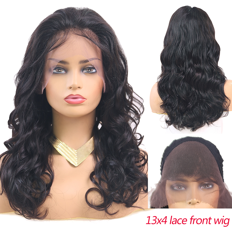 13x4 Lace Front Human Hair Wigs SOKU Pre Plucked Brazilian Remy Human Hair Wigs For Women Long Wave Lace Wigs With Baby Hair