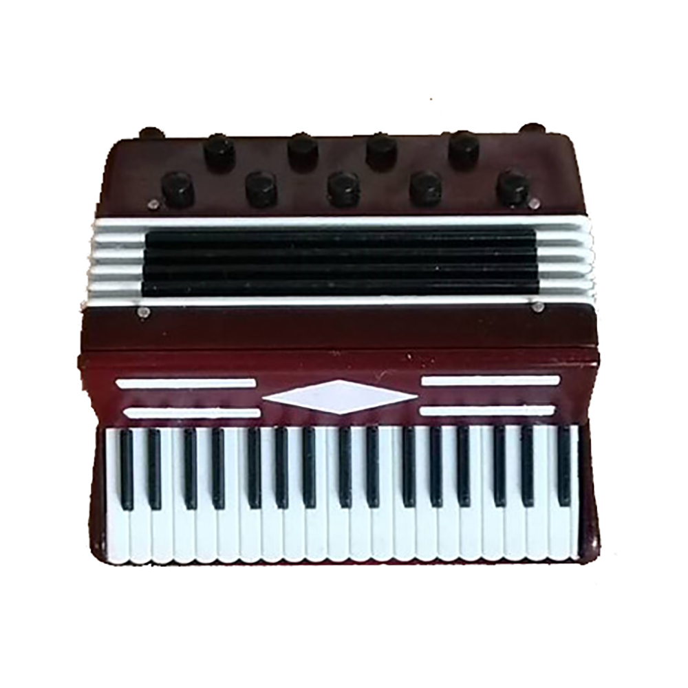 Miniatur Akkordeon Mini Musikinstrument Dekoration
