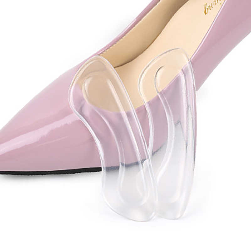 1 Pairs Women Female Silicone Self-Adhesive High Heel Insert Gel Arch Support Heel Protector Insoles Cushion Shoes Pads