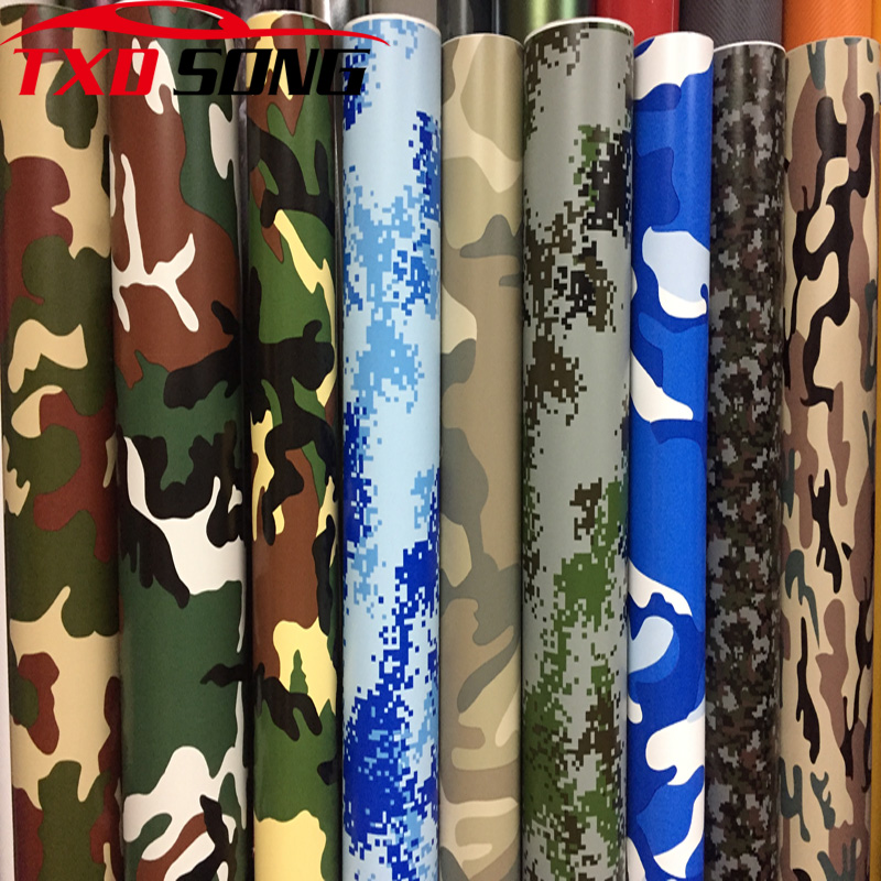 10/20/30cm*152cm/lot Digital Woodland Green Camo Camouflage Desert Vinyl Film Sticker DIY Motorcycle Automobiles Car Styling