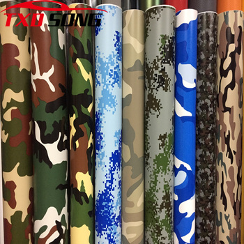 10/20/30cm*152cm/lot Digital Woodland Green Camo Camouflage Desert Vinyl Film Sticker DIY Motorcycle Automobiles Car Styling image
