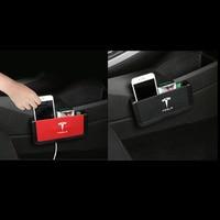 Car Armrest box storage box auto door stick organizer bag porket for Tesla MODEL S MODEL X MODEL 3