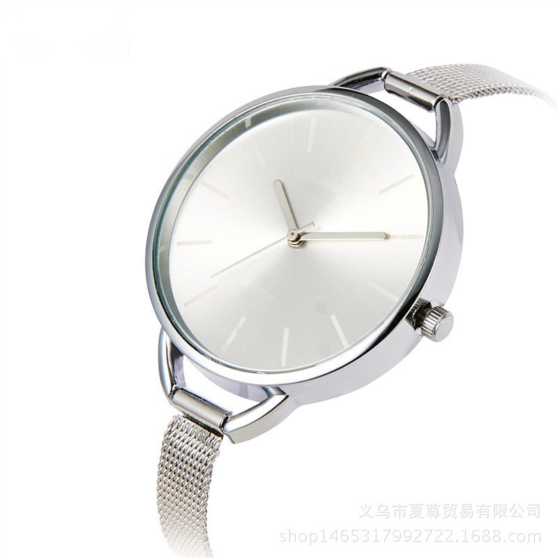 Logo Watch Alloy Mesh Belt Women's Large Meter Brand Watch Simple Quartz Watch Can Be Issued On Behalf Of Others