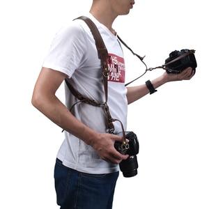Image 5 - Portable Camera Strap Leather DSLR Strap Double Shoulder Strap Photography Accessories Camera Harness Strap
