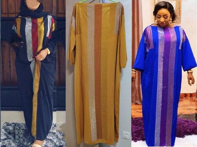 Chiều Dài Đầm: 145 Cm Mới Thời Trang Bazin In Dashiki Nữ Dài/Trồng Yomadou Màu Sắc Hoa Văn Quá Khổ