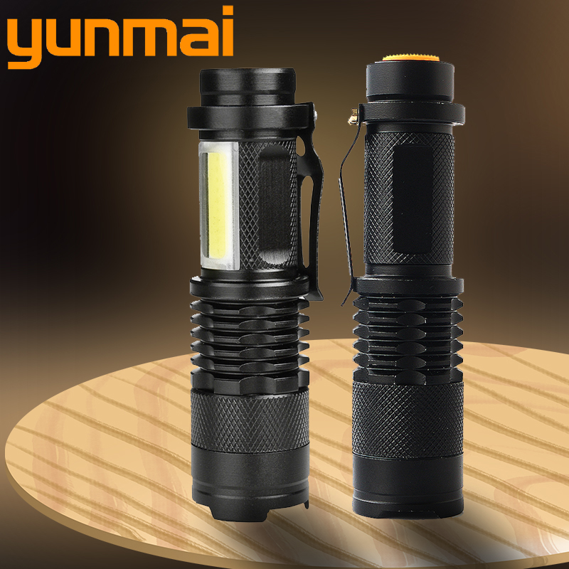 Yunmai 2000LM Aluminum Waterproof Zoomable LED Flashlight Torch tactical light for 14500 Rechargeable or AA Battery
