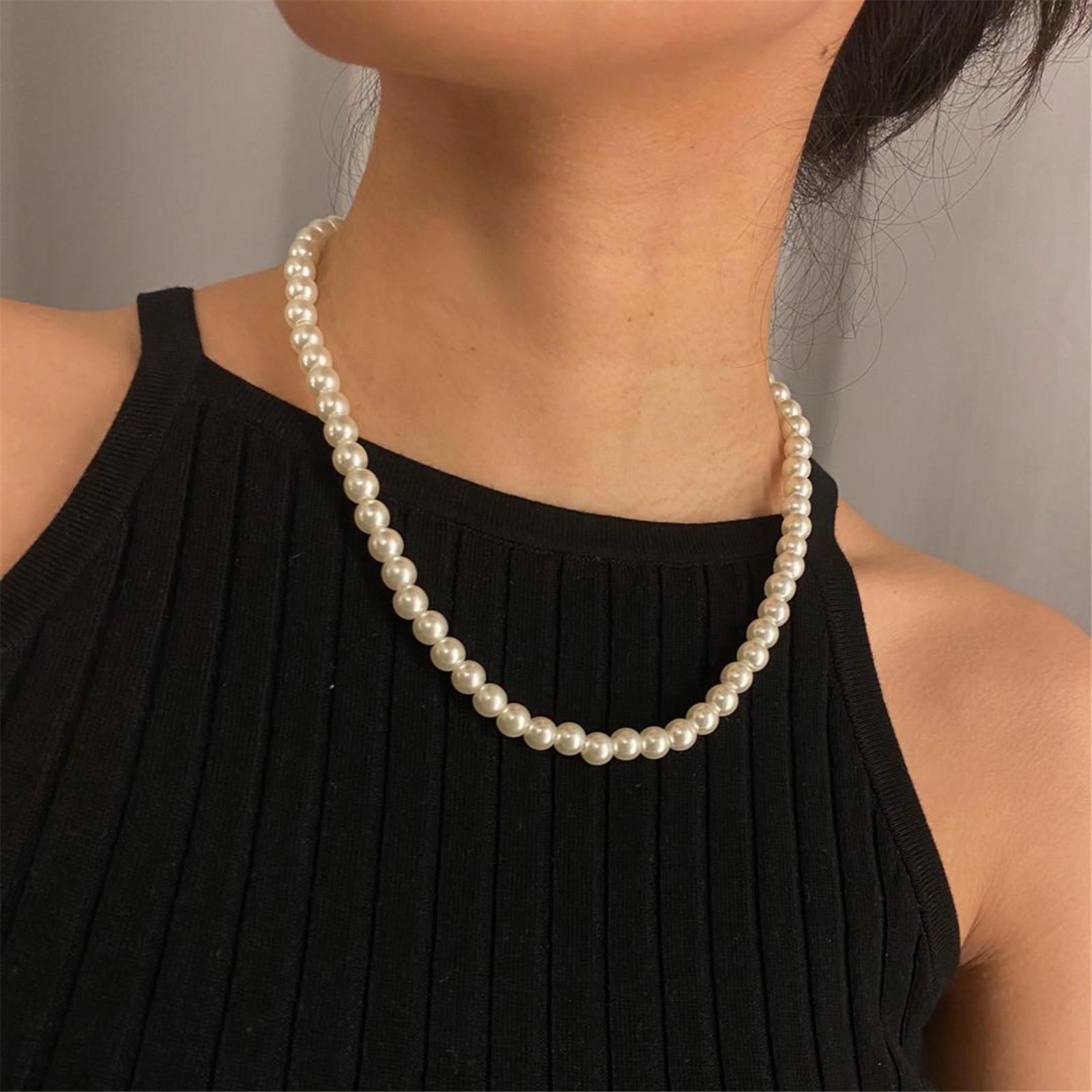 Ожерелье-чокер ювелирные изделия 2021 из металлического сплава романтическое жемчужное ожерелье инкрустированное признание дамы ювелирные ...