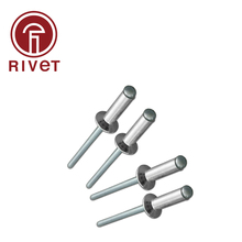 DIN15977 M4 M4.8 Aluminum Steel Blind Rivet Countersunk Head Pop Rivet Open Type Blind Rivet Multi Size 100/500 Pcs iso 15974 m3 2 m4 stainless steel countersunk head closed end blind rivet sealed breakstem fasteners 100 500 pcs