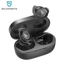 Soundpeats truefree 2 tws fones de ouvido sem fio bluetooth 5.0 fone monaural/binaural chamadas ipx7 à prova dwaterproof água esportes