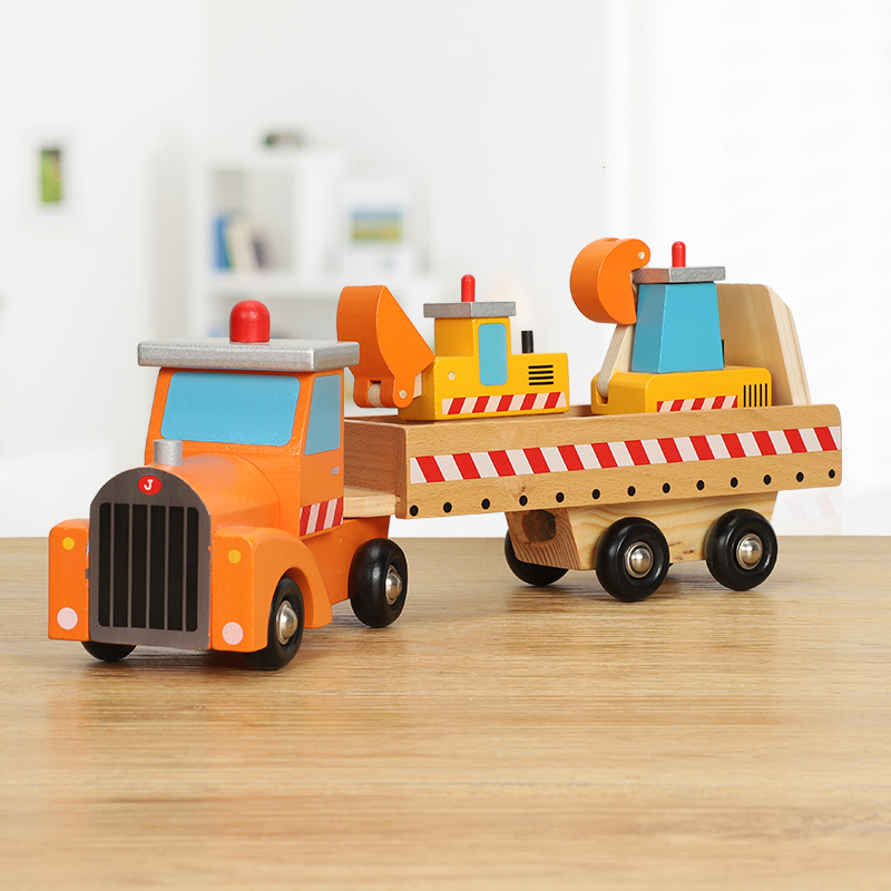 Children's Transport Vehicle Engineering Vehicle Large Truck Cognitive Animal Vehicle Wooden Car Model Taxi Toy Car