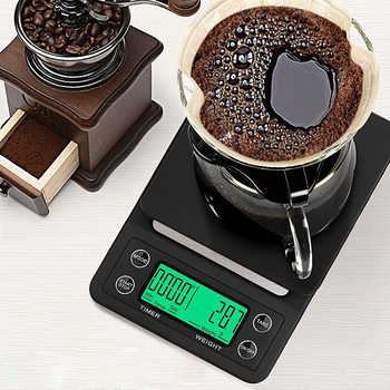 3kg/0.1g 5kg/0.1g Drip Coffee Scale With Timer Portable Electronic Digital Kitchen Scale High Precision LCD Electronic Scales - DISCOUNT ITEM  50 OFF Tools