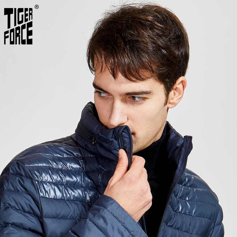 TIGER FORCE 2020, nueva chaqueta casual cálida para primavera y otoño para hombre, abrigo con capucha de alta calidad, ropa de abrigo con cremallera, ultraligera 50601