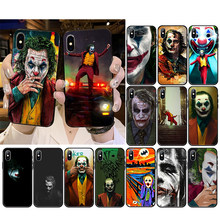 Joker 2019 joaquin phoenix palhaço capa de telefone para iphone 12mini 12 11 promax xs max xr se2020 8 7 6s plus x 5 5S se