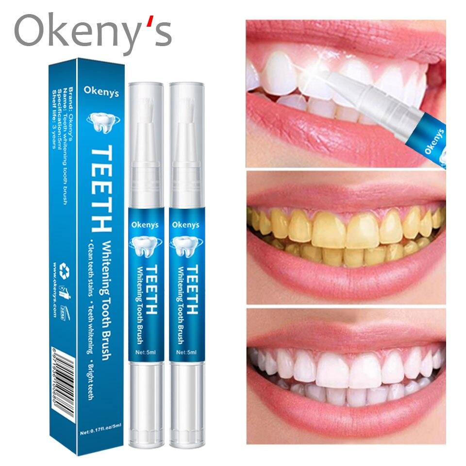 5ml 3D White Teeth Whitening Pen Tooth Gel Whitener Bleach Remove Stains Oral Hygiene Instant Smile Pro Nano Teeth Whitening Kit