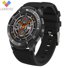 "Lerbyee GT106 Smart Uhr 1.28 ""Full Screen Touch Herz Rate Monitor Anruf Erinnerung Fitness Uhr Männer Frauen Musik Smartwatch iOS"