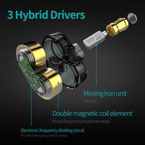 Image 2 - Plextone DX6 bluetooth kulaklık üç adet 3.5mm kulak içi kulaklıklar spor Stereo bas HIFI kablolu kulaklık MMCX kablosu xiaomi