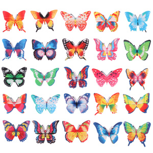 100PCS Butterfly Cake Decoration Cute Eatable Cake Toppers Wafer Paper Butterflies for Wedding Cakes