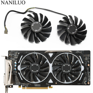 2PCS/lot 4PIN PLD09210S12HH RX 470/480/570/580 Cooler fan For AMD MSI RX470 RX480 RX570 RX580 ARMOR video card Fan(China)