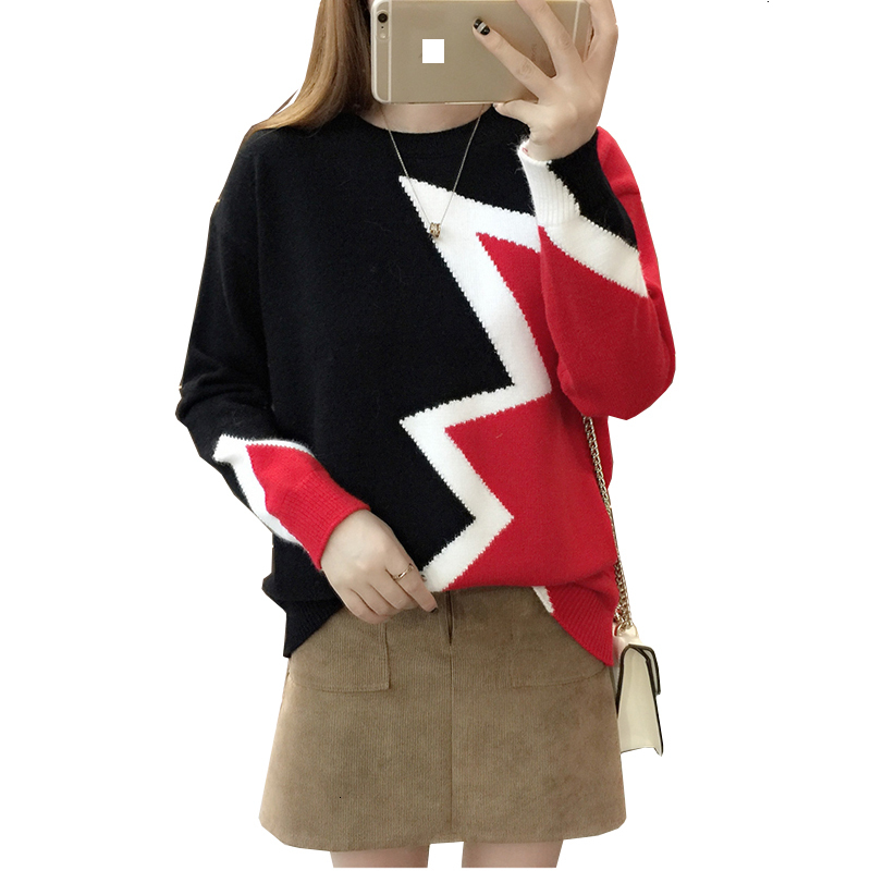New  Reef And Winter Fashion Women's Sweaters High Elastic O -neck Sweaters Women's Slender Kashmir Deep Point Weaned Sweaters