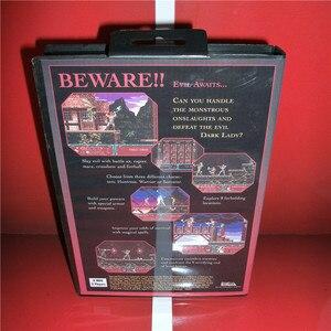 "Image 2 - להבים של נקמה ארה""ב כיסוי עם תיבה ידנית עבור Sega Megadrive בראשית וידאו משחק קונסולת 16 קצת MD כרטיס"