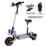 FLJ 6000W Electric Scooter with Dual engines bluetooth App Battery 11inch off road 60V double drive Korea Electric Scooter|Electric Scooters|Sports & Entertainment -