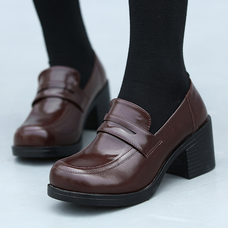 Womens Girls Lolita Low Top Japanese Students Maid Uniform Dress Shoes  Oxford Shoes Black Work & Safety Shoes