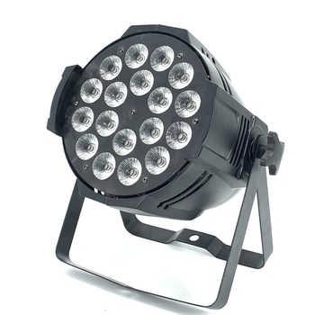 DJ Disco DMX Lamp LED Par Light 18x12W RGBW Quad 4in1 Color Home Party Lights DJ Equipment Stage Effect led Strobe Lighting - DISCOUNT ITEM  0% OFF All Category