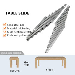 Cabinet folding table retractable track small household multi-functional desk bar extension slide hardware accessories