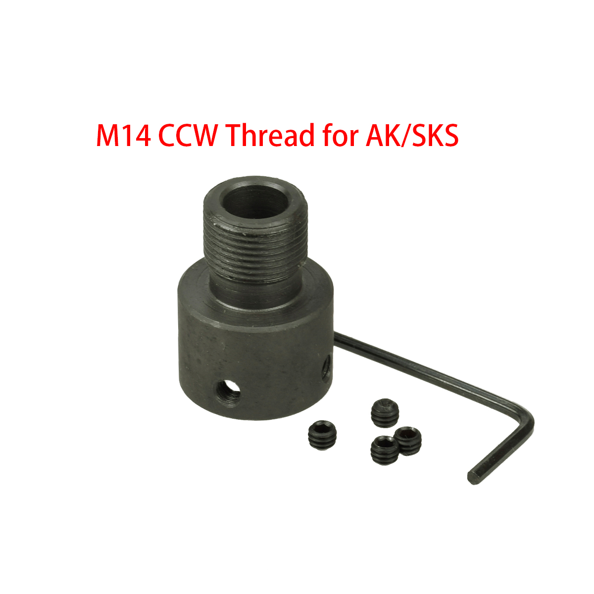 AK47 AK74 M14 Thread AK SKS Muzzle Brake Adaptor Hunting Saiga Accessories Rifle For Non Threaded Barrel