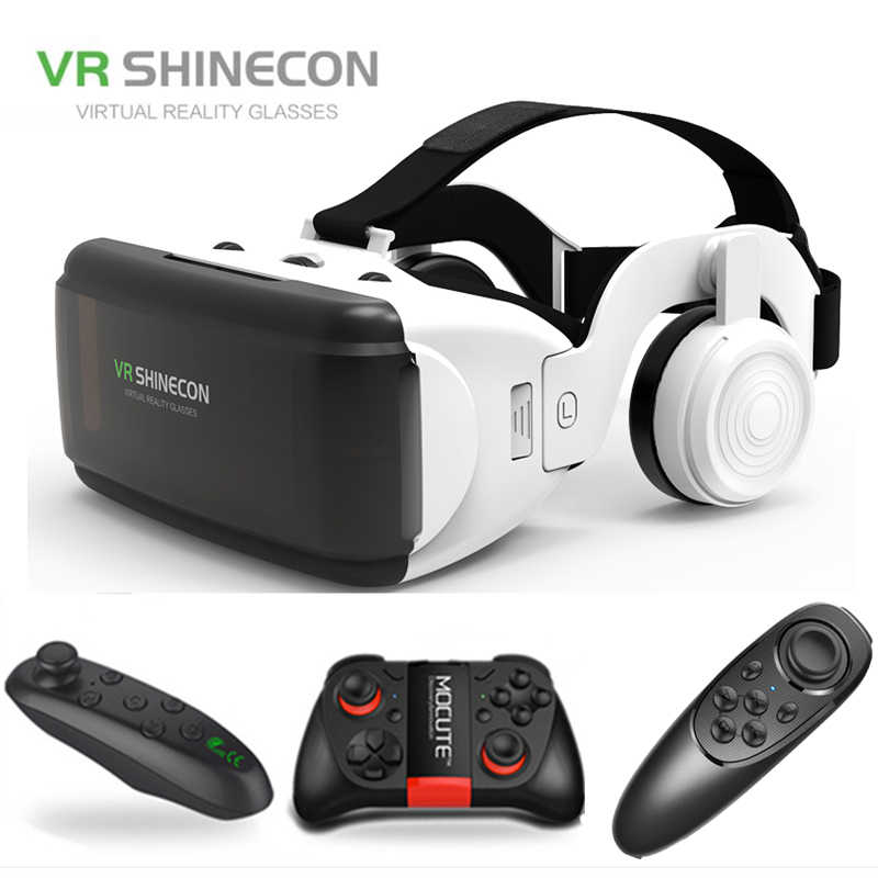 VR gläser Shinecon Pro Virtuelle realität 3D VR gläser Google Karton headset virtuelle brille für smart phones ios Android 4-6.