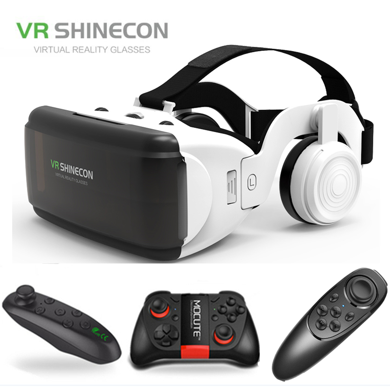 Shinecon Google Cardboard Headset Vr-Glasses 3D Android Smart-Phones Virtual-Reality title=