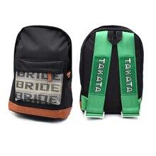 JDM ญี่ปุ่นสไตล์เจ้าสาว Racing สายคล้องผ้าสไตล์กระเป๋าเป้สะพายหลังนักเรียนโรงเรียนกระเป๋าเป้สะพายหลังผ้าใบเจ้าสาว Racing ของที่ระลึก