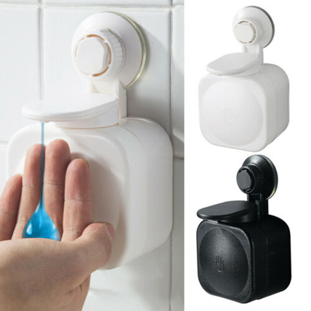 Suction Cup Soap Dispenser Wall Mounted ABS Waterproof Soap Box For Bathroom Storage Box