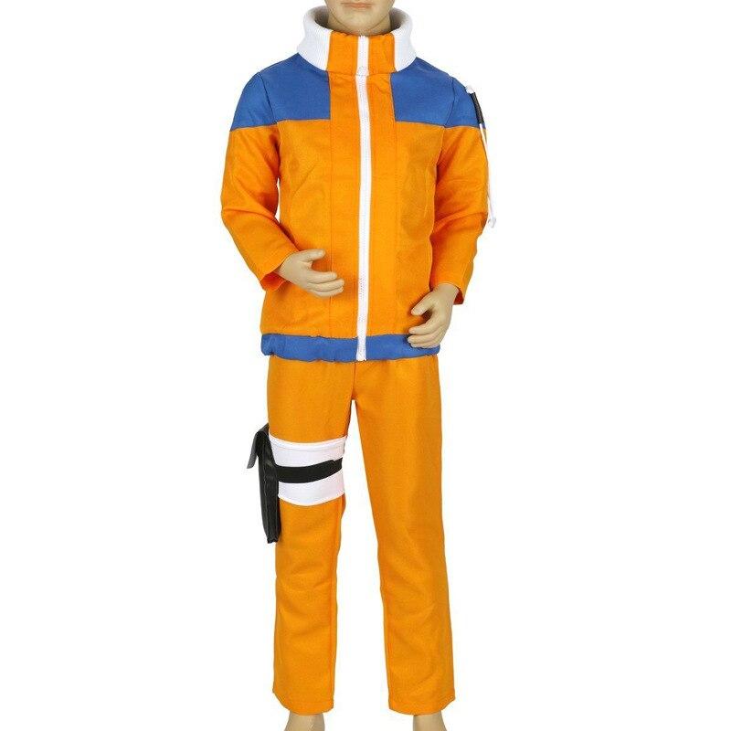 Kids Uzumaki Naruto Cosplay Costume Uzumaki Naruto Costumes For Boys Jacket Pants Anime Coat Sweatshirt Cosplay Suit