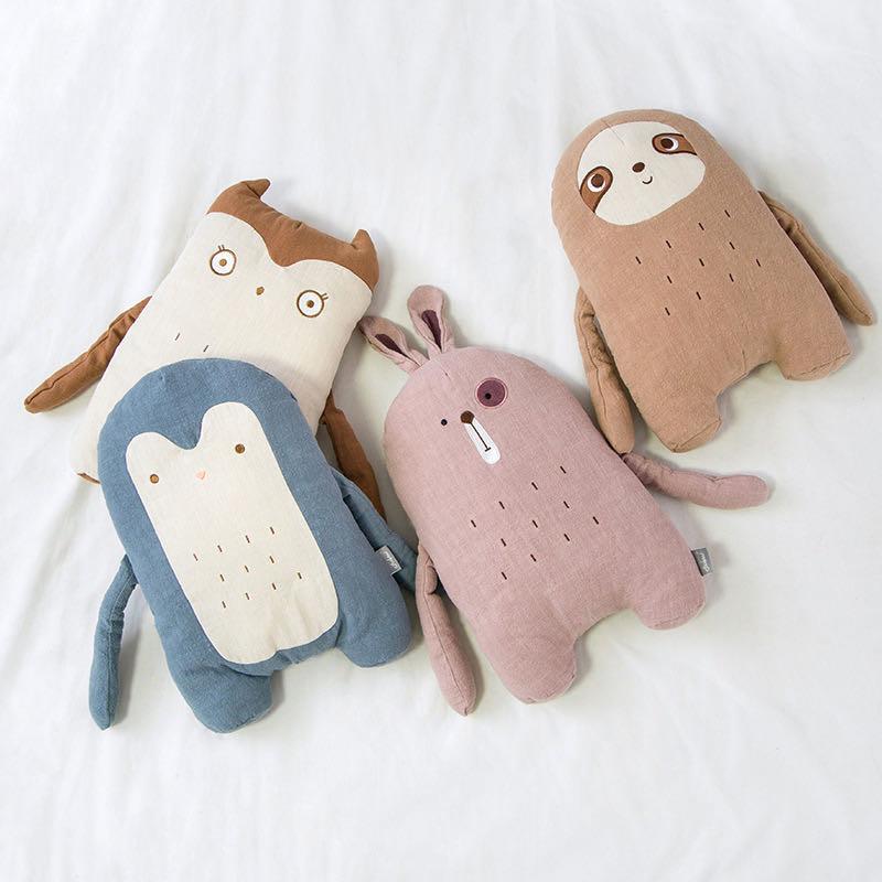 Подушка в скандинавском стиле с изображением кролика, медведя, подушка для девочек, детская плюшевая подушка, подушка для детской комнаты, у...