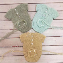 Newborn Photography Props, Newborn Headband & Pants skirt Bodysuit Hand-woven