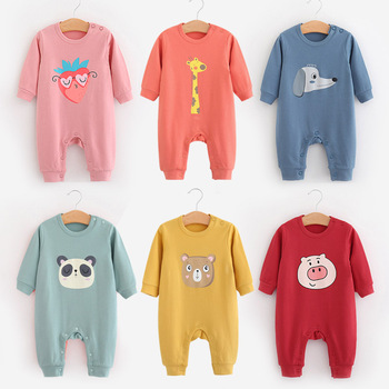 Baby Rompers - Cartoon - Cotton - Long Sleeved