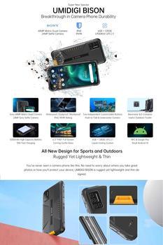 "UMIDIGI BISON IP68/IP69K Waterproof Rugged Phone 48MP Matrix Quad Camera 6.3"" FHD+ Display 6GB+128GB NFC Android 10 Smartphone 2"