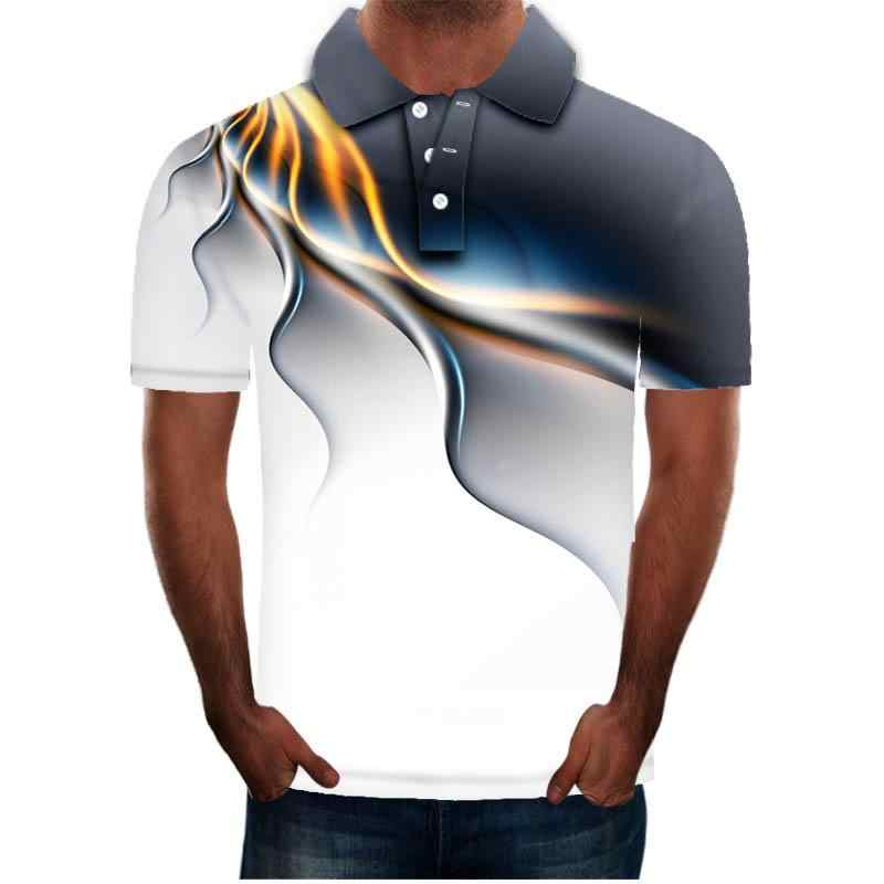 2020 Summer Mens Polo Shirt 브랜드 Lightning unique Raindrop 인쇄 된 Turn Down Collar 반팔 남성 Polo Homme Tees Tops