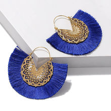 Vintage Boho Big Tassel Earrings Brico Personalized Classical Bohemian Multiple Color Fringle Earring Women Statement Jewelry(China)