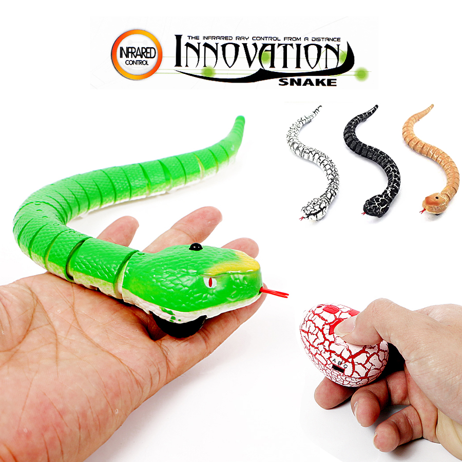 "16"" Long Rechargeable RC Snake Toy With Interesting Egg Radio Control Realistic Joke Scary Trick Toys 4 colors for Kids Play(China)"