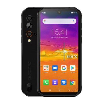 Перейти на Алиэкспресс и купить Смартфон Blackview BV9900 Pro, термокамера, мобильный телефон, Восьмиядерный процессор Helio P90, 8 ГБ + 128 ГБ, IP68/IP69, прочный, четырехъядерный, камера задне...