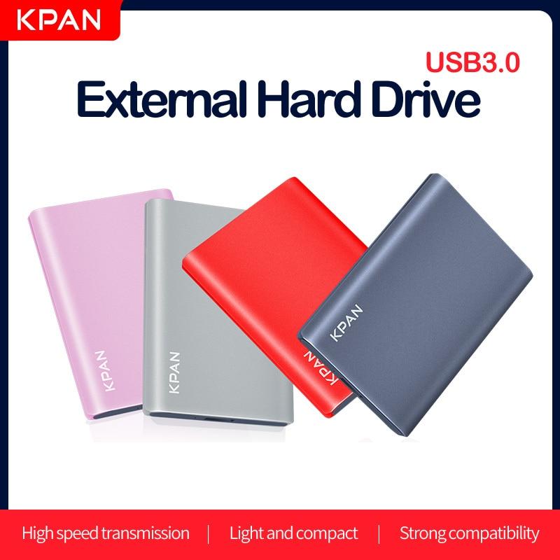 "Kpan metal hdd 2.5 ""disco rígido externo 320gb 500gb 750gb 1tb 2tb usb3.0 dispositivo de armazenamento para pc, mac, desktop, computador portátil, 360x ps4/5"