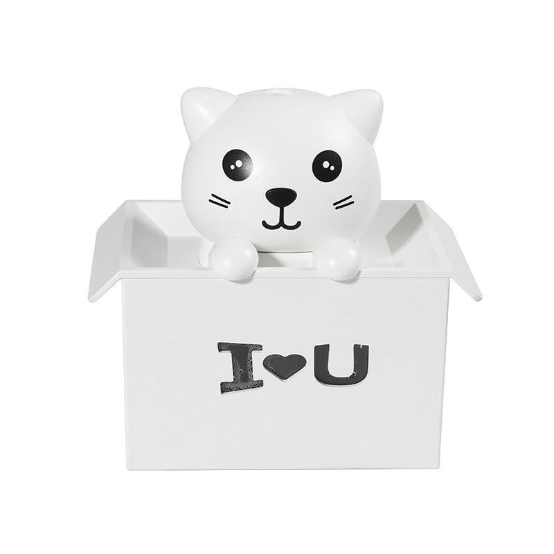 Ev Aletleri'ten Nemlendiriciler'de Sevgililer günü hediyesi usb hava nemlendirici aroma yağı difüzörü sevimli hayvan kedi renkli ışık ile title=