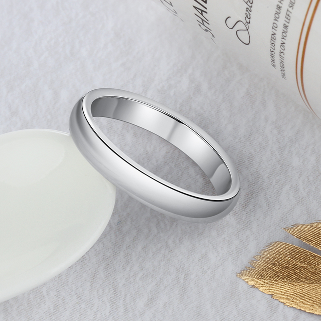 925 Sterling Silver Women Rings Simple Stackable Ring Silver 925 Finger Ring Wedding Engagement Jewelry Gifts (Lam Hub Fong) 5