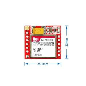 Image 2 - 100個gsmモジュール最小SIM800L gprs gsmモジュールmicrosimカードコアボードクワッドバンドttlシリアルポートarduino
