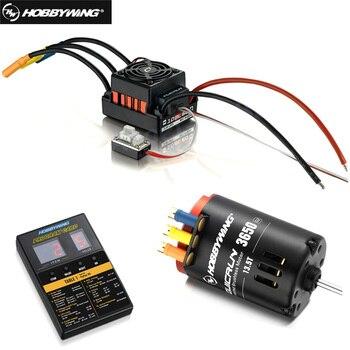 Hobbywing QUICRUN 3650 Sensored 2-3S Race Brushless Motor + QuicRun WP 10BL60 60A Sensored ESC+LED Program Card For 1/10 Rc Car фото